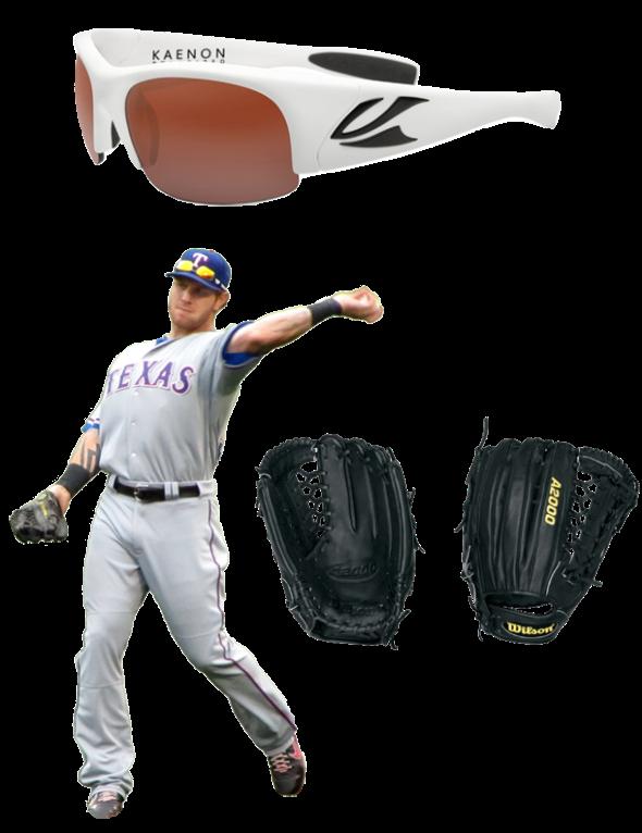 Josh Hamilton Glove Model, wilson glove, wilson a2000, wilson a2000 jh32, Josh Hamilton Sunglasses, kaenon sunglasses, kaenon hard kore