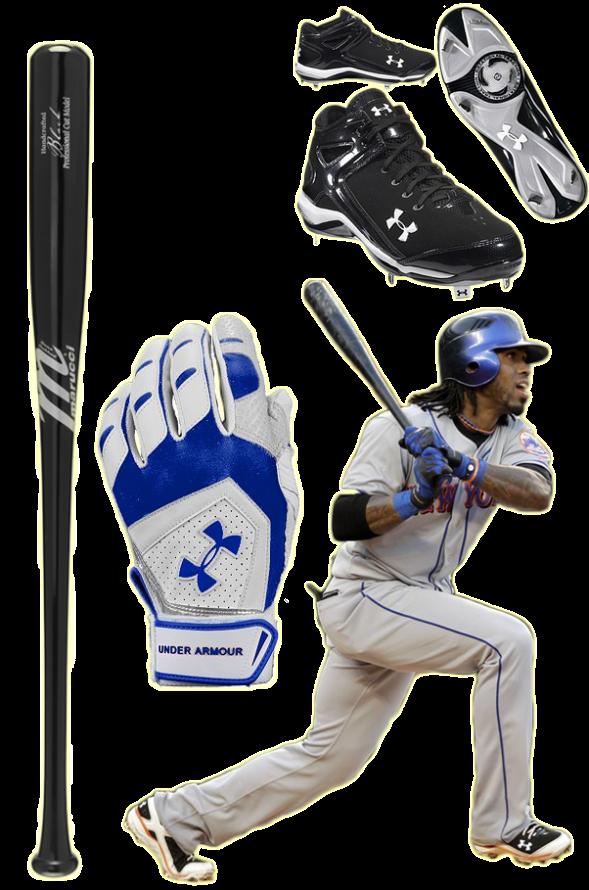 jose reyes bat, jose reyes batting gloves, jose reyes cleats, under armour batting gloves, under armour cleats