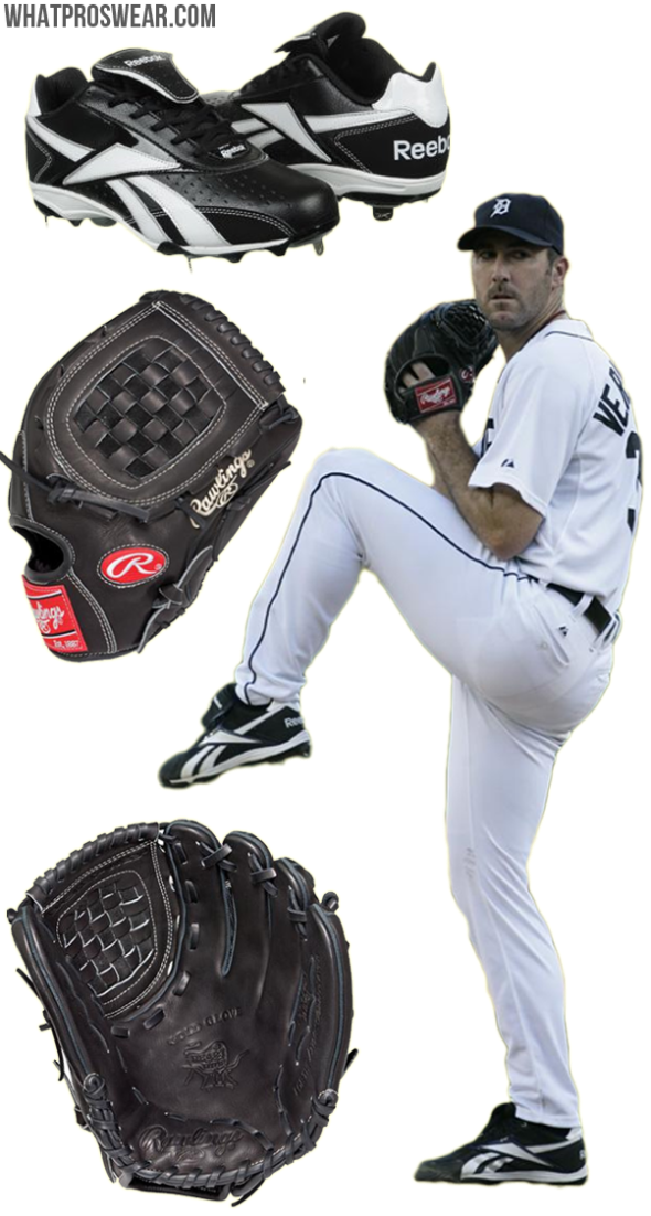 justin verlander glove model, verlander cleats, reebok baseball, rawlings glove, PRO12M, heart of the hide
