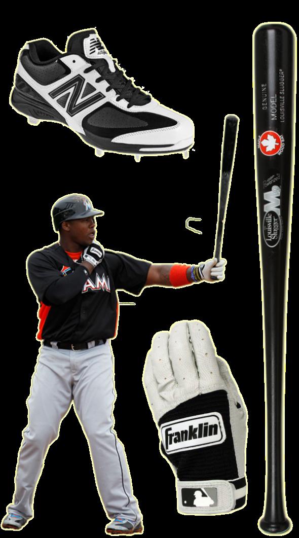 hanley ramirez bat, hanley ramirez batting gloves, hanley cleats, new balance 4040, franklin batting gloves, hanley  ramirez louisville slugger