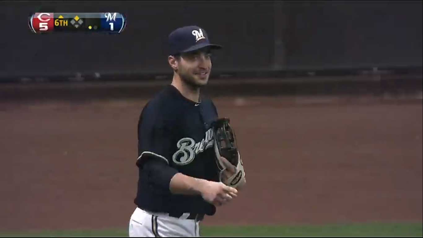 Ryan Braun Fielding