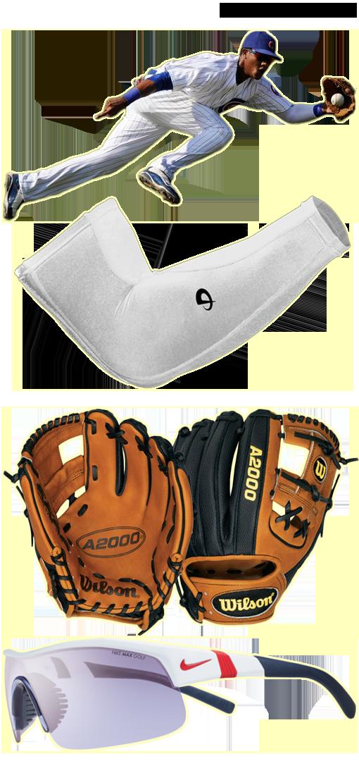 starlin castro glove model, starlin castro sunglasses, phiten arm sleeve, a2000 1786 ss, nike show x-1