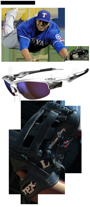 nelson cruz glove model, nelson cruz sunglasses, tpx glove, oakley fast jacket